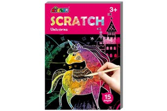 Avenir - Mini Scratch Book - Unicorns - Default