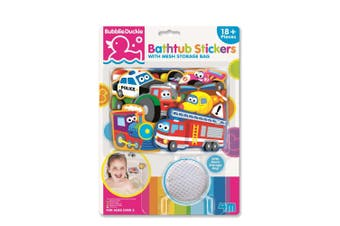 4M - BubblieDuckie Bathtub Stickers - Transportation