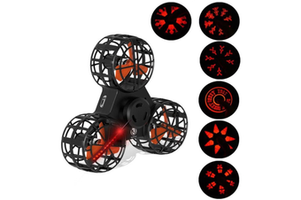 Light Up Flying Fidget Spinner,Upgraded LED Light Handheld Flying Spinner,Interactive Hand Spinner Toy with Smiley face,Snowflake, Pumpkin, Skull