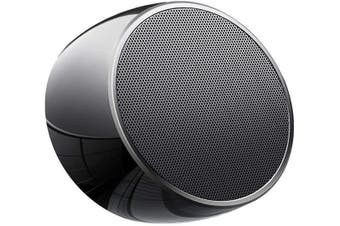 Portable Bluetooth Speakers,Mini Office Speaker with Built-in Mic,Car Handsfree Call, AUX and TF Card Slot for iPhone,iPad,Tablet - Black