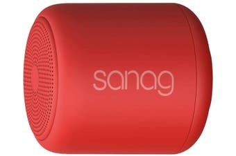 Portable Wireless Bluetooth Speakers with Loud HD Sound and Rich Bass,Handsfree Call,TF Card Support,Built-in-Mic,for Tablets,Phones,Computer -Red