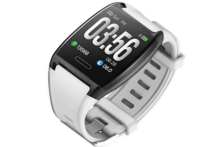 Fitness Tracker, Activity Tracker Fitness Watch with Heart Rate Monitor, Blood Pressure Monitor, Calorie Counter, Pedometer-White