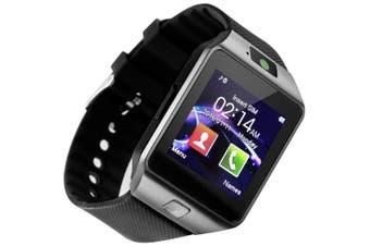 Smart Watch Touchscreen Bluetooth Smartwatch Wrist Watch Fitness Tracker with Camera Pedometer SIM TF Card Slot-Black