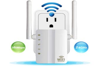 WiFi Range Extender 300 Mbps Mini Wireless WiFi Repeater Router Internet Signal Booster with WPS Function 2.4GHz Band Amplifier