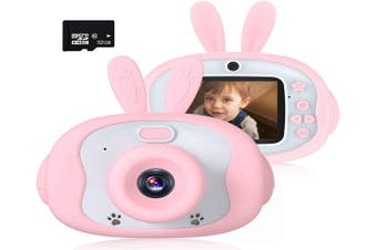 Kids Camera 12.0MP IPS 2.4 Inch Digital Cameras for Kids, Kids Video Camera with 32GB SD Card Mini Cartoon Child Camcorder for Girls Birthday Toy Gift
