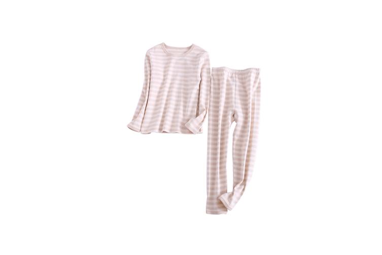 2PCS Unisex Underwear Suit Cotton Long Sleeve Suit  130cm