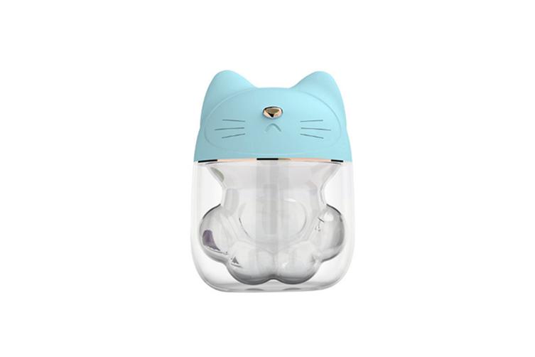 Cat paw type three in one humidifier desktop spray replenishment instrument  BLUE