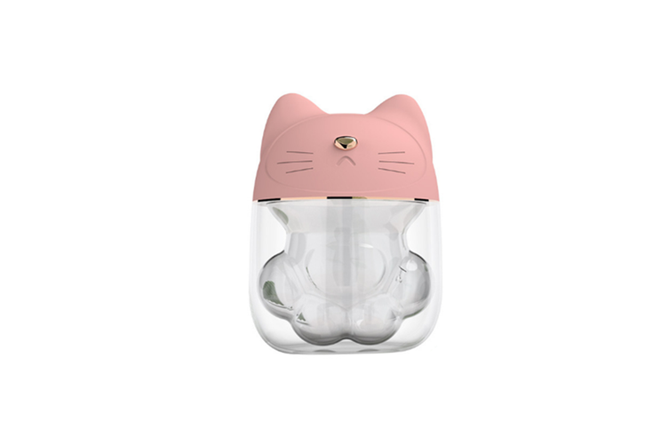 Cat paw type three in one humidifier desktop spray replenishment instrument  PINK
