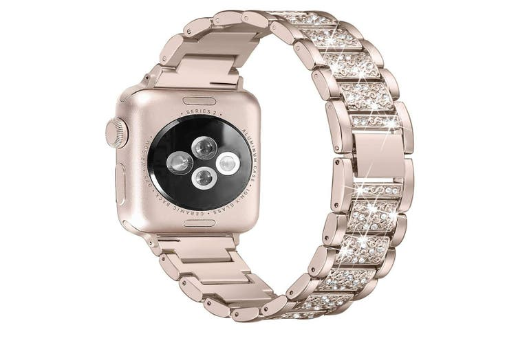 Bling Bands Compatible Apple Watch Band Metal Replacement Wristband  44mm