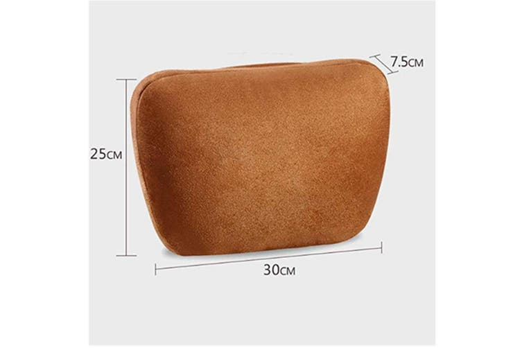 Soft Car Headrest Auto Seat Cover Cushion Neck Adjustable Pillow  BROWN