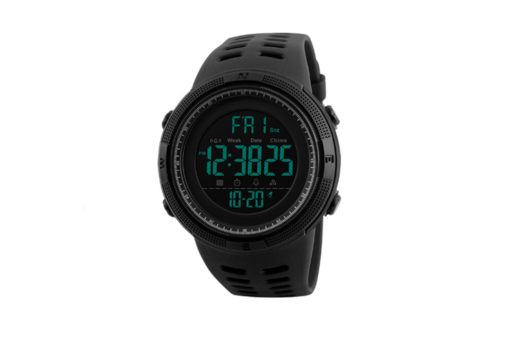 Night Light Sports Electronic Watch Multifunctional Waterproof Watch  BLACK COFFEE