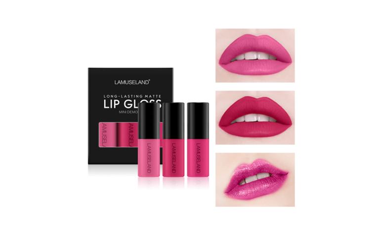 Matte Liquid Lip Stick Set Mini Lip Gloss Travel Kit Long A