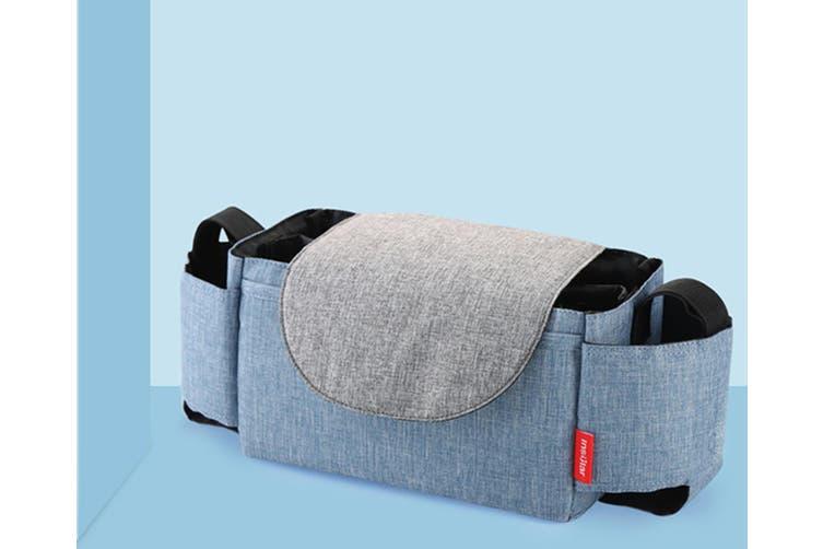 Multifunctional Baby Stroller Storage Bag Bottle Water Hanging Bag  BLUE