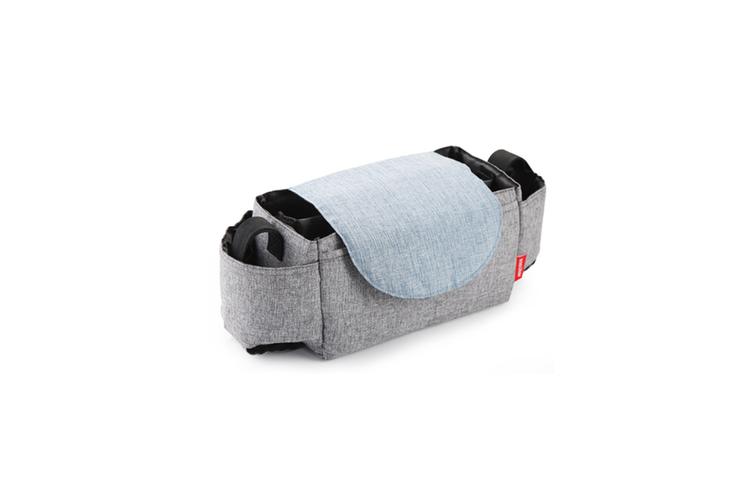 Multifunctional Baby Stroller Storage Bag Bottle Water Hanging Bag  GREY