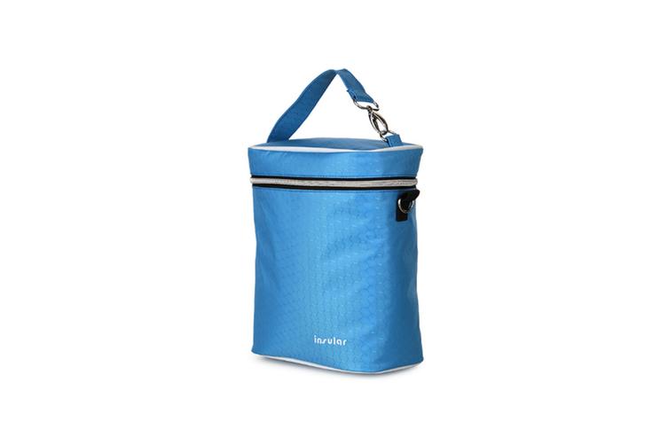 Multifunctional Waterproof Shoulder Slung Bottle Insulation Bag Fresh Bag  BLUE