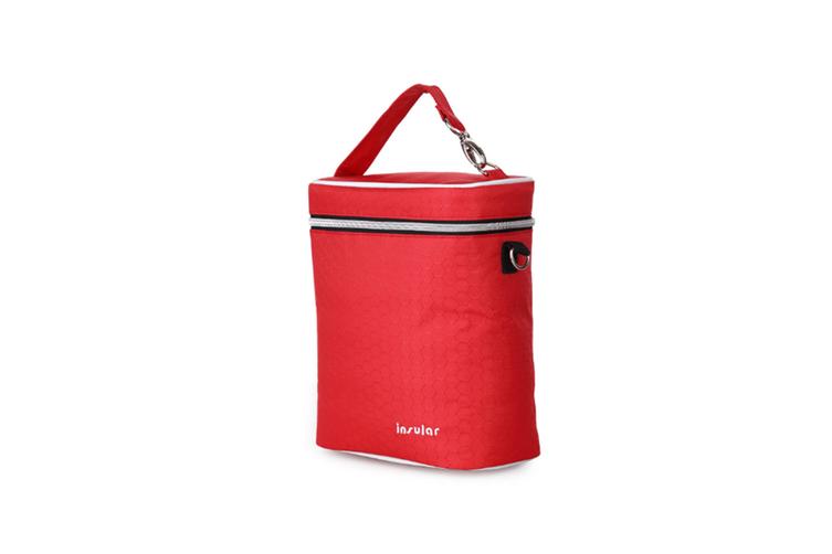 Multifunctional Waterproof Shoulder Slung Bottle Insulation Bag Fresh Bag  RED