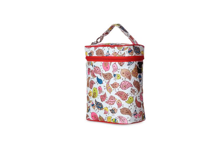Multifunctional Waterproof Shoulder Slung Bottle Insulation Bag Fresh Bag  WHITE