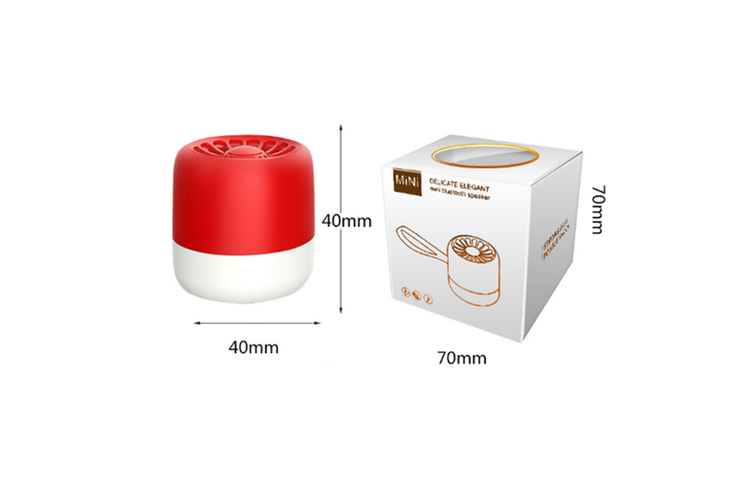 Bluetooth Subwoofer Wireless Portable Intelligent Mini Audio  RED