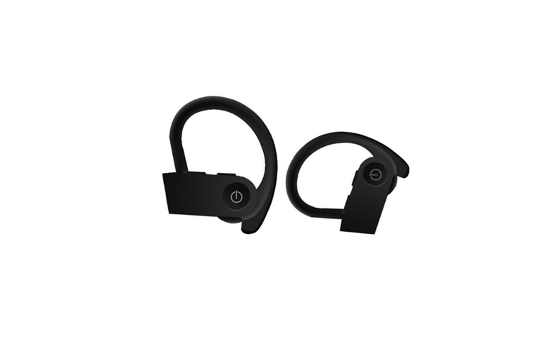Bluetooth Headset Ear Hanging Wireless Bluetooth Headset with Charging Bin  BLACK