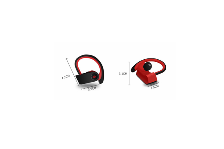 Bluetooth Headset Ear Hanging Wireless Bluetooth Headset with Charging Bin  BLUE