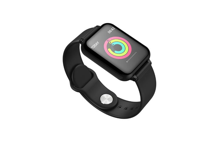 Intelligent Bracelet Heart Rate Blood Pressure Sleep Monitoring Bracelet  BLACK