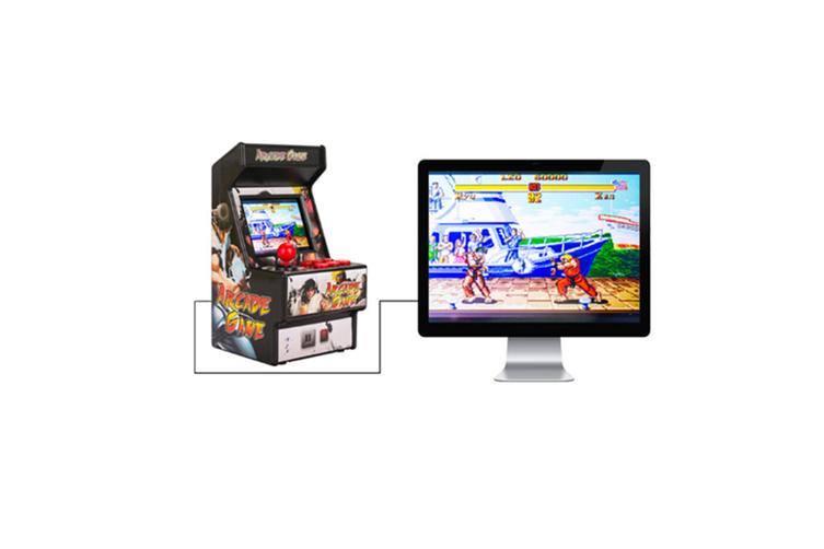 Mini Arcade Handheld Game Classic Retro Game 16 PINK