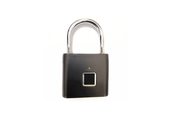 Smart Fingerprint Password Stainless Steel Padlock  BLACK
