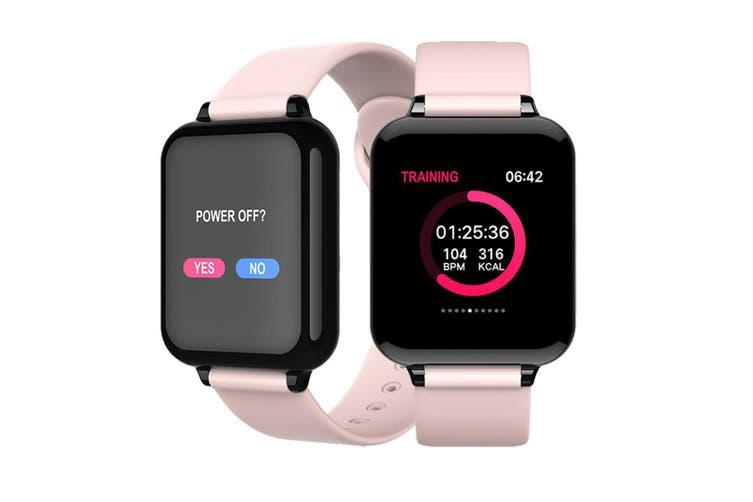 B57 Color Screen Pacing Heart Rate Sleep Analysis Bluetooth Waterproof Handcuff  PINK