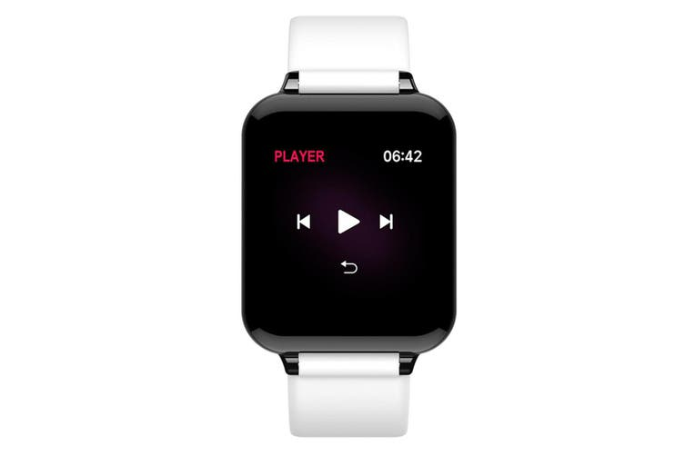 B57 Color Screen Pacing Heart Rate Sleep Analysis Bluetooth Waterproof Handcuff  WHITE