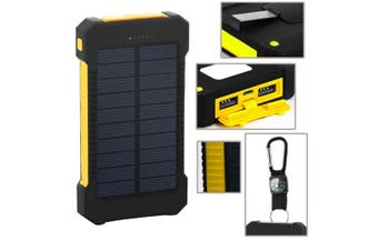 30000 Millimetre Outdoor Solar Mobile Power Supply  YELLOW