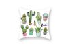 Mint green plant pillow sleeve digital printing office cushion pillow sleeve  45X45cm