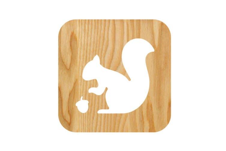 Squirrel Wooden Bedroom Nightlight Hollow CT0653