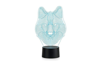 Wolf 3D Lamp Colorful Touch LED Lamp Bedroom Nightlight USB Battery Dual Purpose