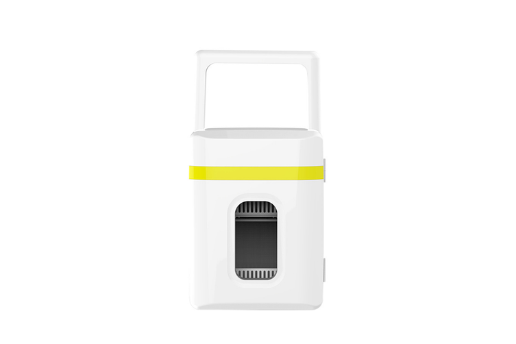 Mini Refrigerator in Vehicle Dormitory Cosmetics Refrigerator  YELLOW
