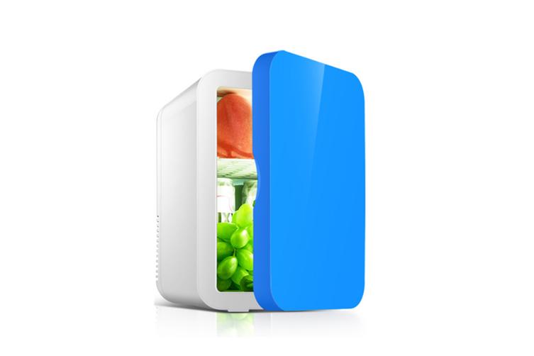 Car portable mini refrigerator Cosmetics refrigeration refrigerator  BLUE