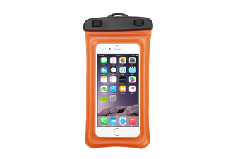 Outdoor Swimming Mobile Phone Waterproof Bag Floating Diving Bag  ORANGE