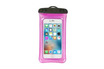 Outdoor Swimming Mobile Phone Waterproof Bag Floating Diving Bag  ROSE RED
