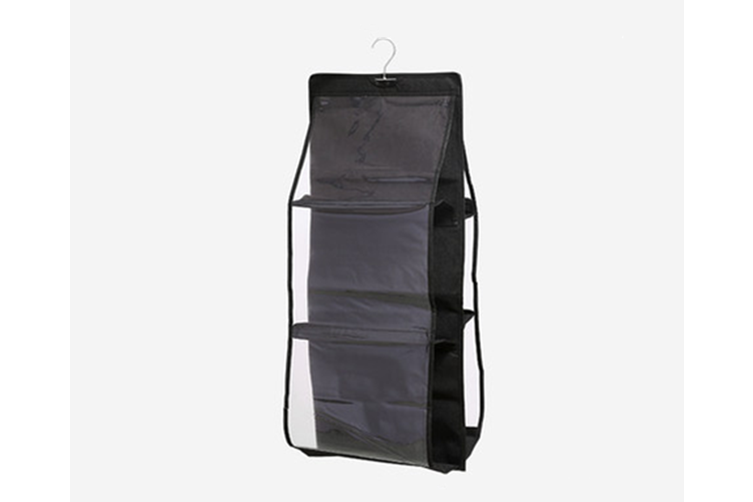 Transparent Bag Storage Hanging Bag Non BLACK