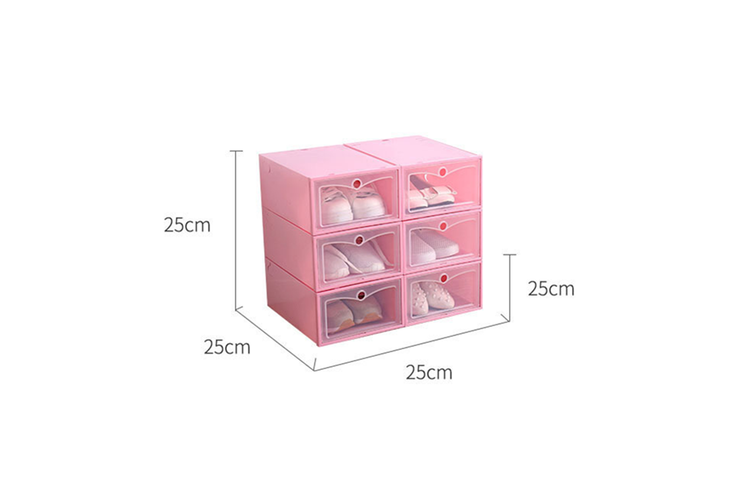 Transparent Dustproof Moistureproof Thickened Flip Shoes Bedroom Storage Box  31X20X13