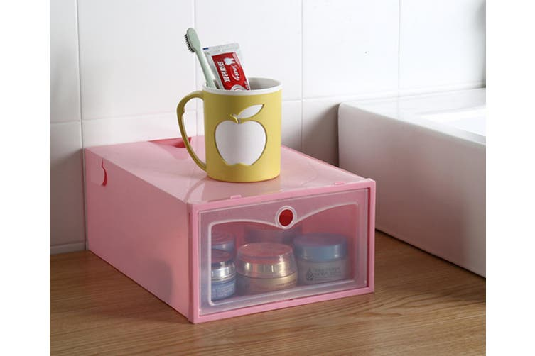 Transparent Dustproof Moistureproof Thickened Flip Shoes Bedroom Storage Box  31X20X13