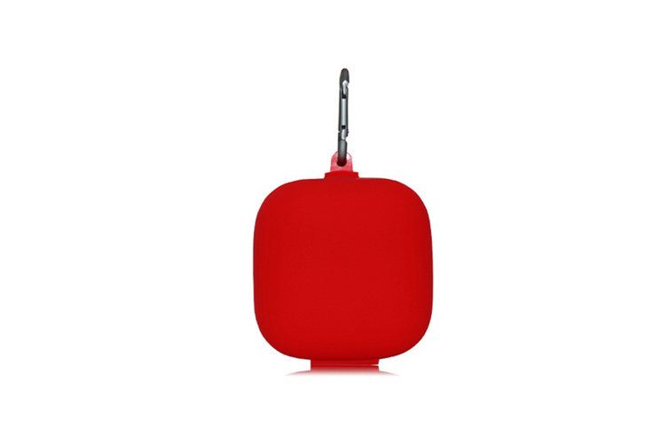 Silicone Headset Cover Wireless Headset Storage Pack for Powerbeats Pro  RED