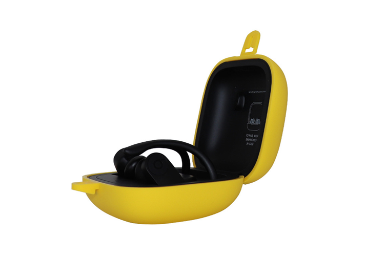Silicone Headset Cover Wireless Headset Storage Pack for Powerbeats Pro  YELLOW