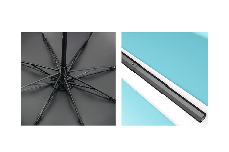 Black Rubber Sunshade Umbrella Anti WHITE