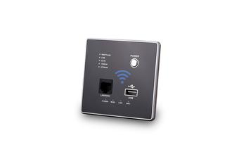 300M Wallboard Wireless WiFi Relay Intelligent Wallboard Router  BLACK