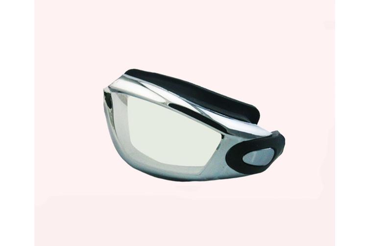 Outdoor Swimming Combination Set Swimming Mirror Swimming Cap Ear BLACK