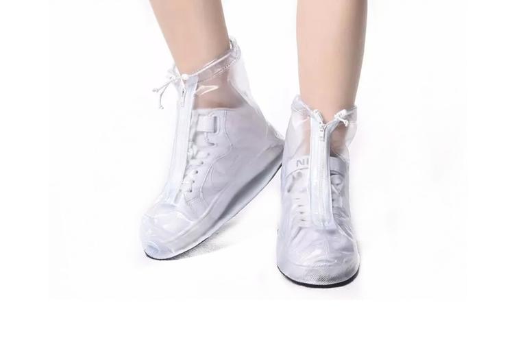Unisex Waterproof Transparent Shoe Cover Convenient Antiskid Shoe Cover  L