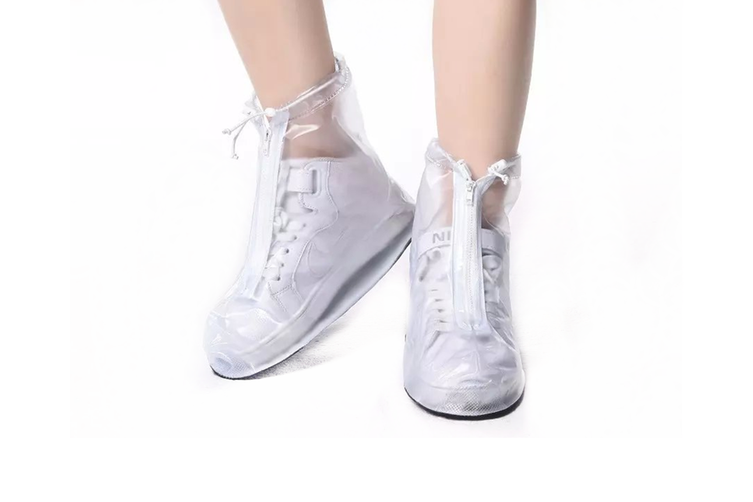 Unisex Waterproof Transparent Shoe Cover Convenient Antiskid Shoe Cover  XL