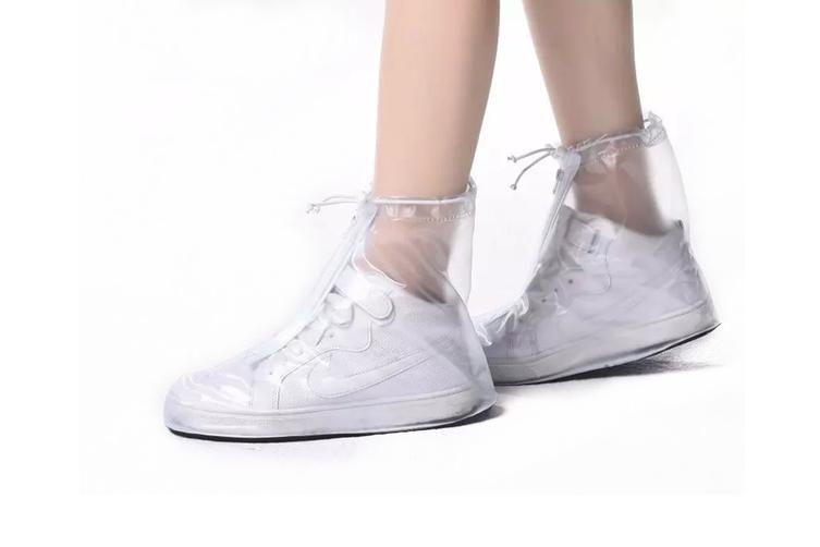Unisex Waterproof Transparent Shoe Cover Convenient Antiskid Shoe Cover  XXL