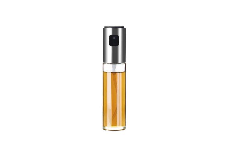 Oil and Vinegar Spray Bottle ABS Oil Spray Pot Barbecue Oil Pot Cruet  SILVER