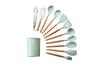11PCS Wood Handle Silica Gel Kitchenware Non 11PCS